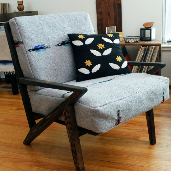 DIY Mid-Century Rustic Chair