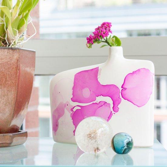 Marble Vase With Nail Polish