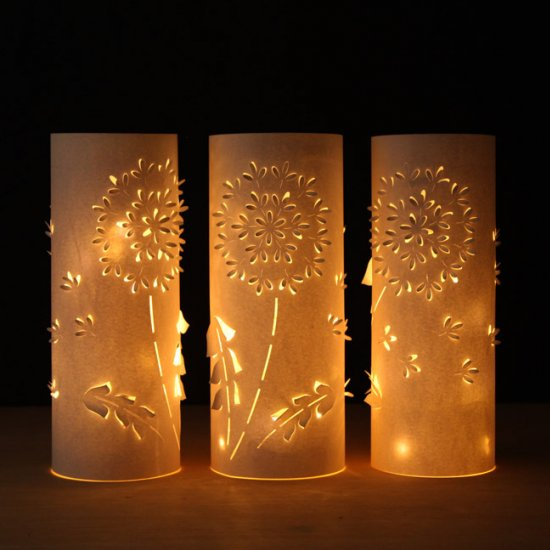 DIY Dandelion Paper Lanterns