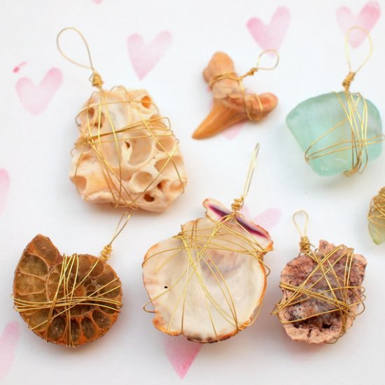 Wire Wrapped Nature Pendants