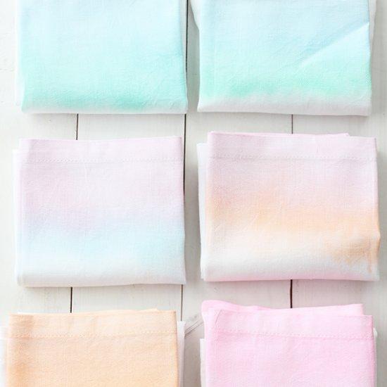 DIY Watercolor Cloth Napkins