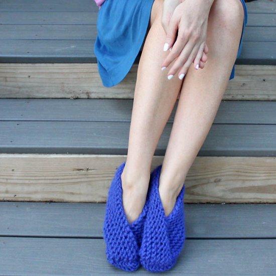 Foldover Slippers Knitting Pattern