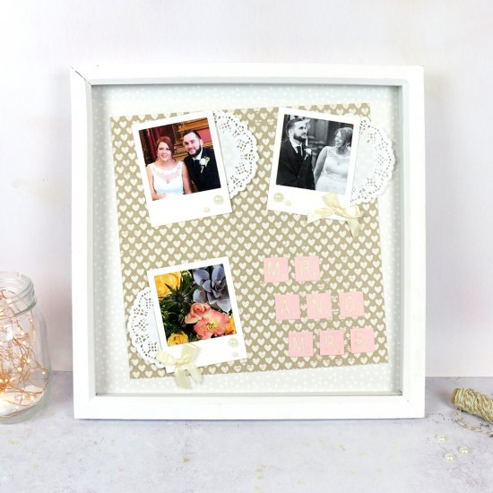 DIY Wedding Memories Frame