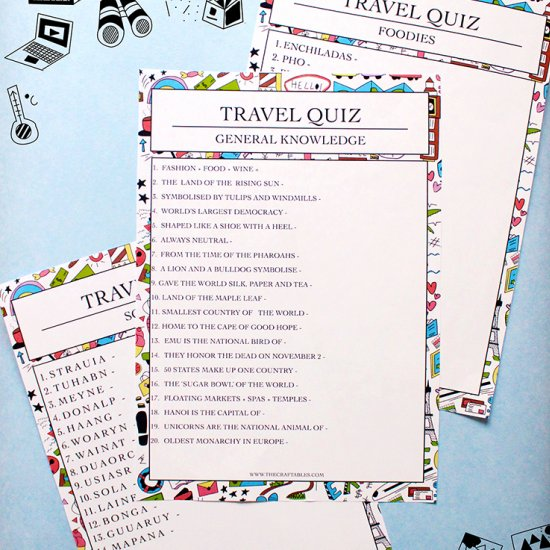 Printable Travel Quiz!