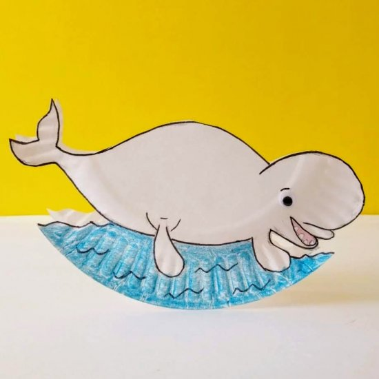 Rocking Beluga Whale Craft