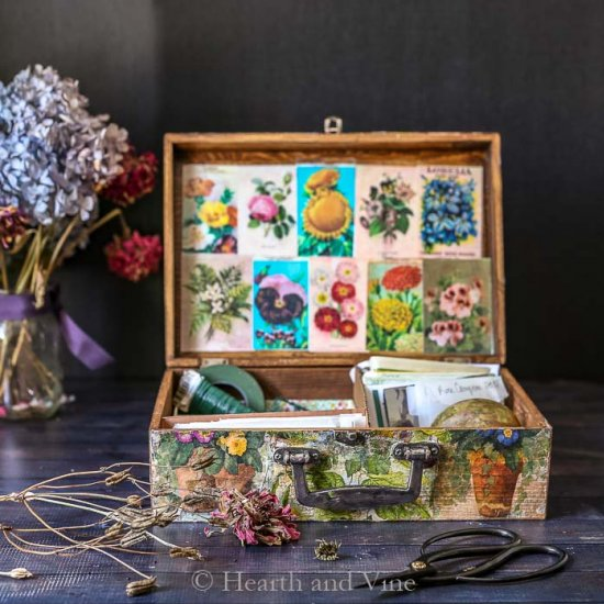 DIY Antique Wooden Seed Box