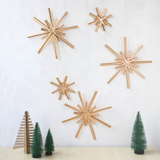 Paper Straw Star Decorations