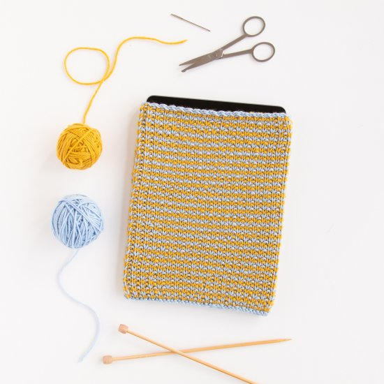Comfy Tablet Sleeve Knitting Patter