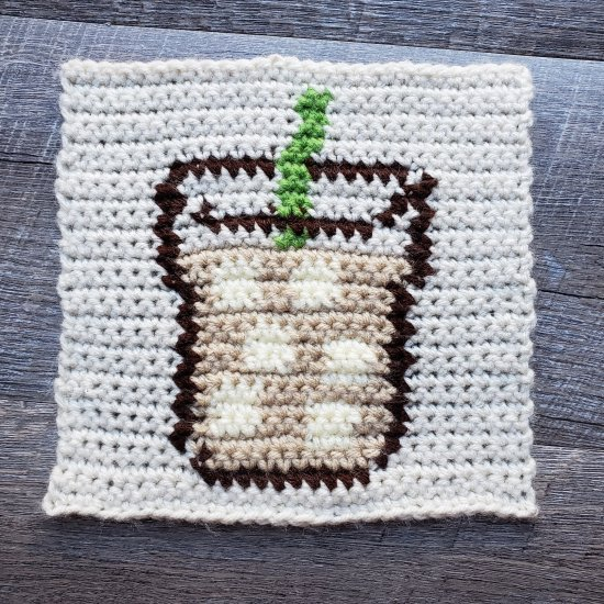 Iced Coffee Crochet Square